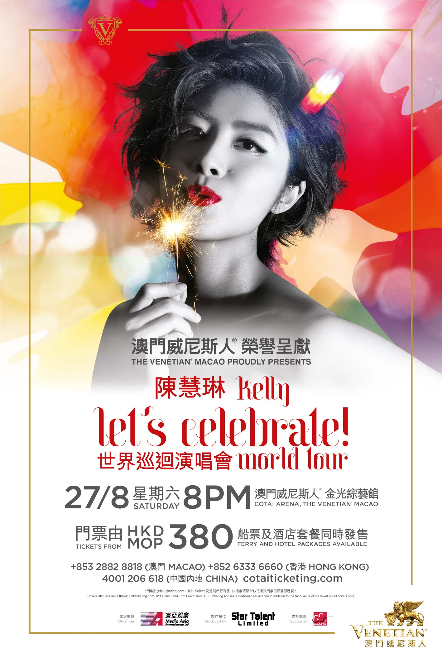 Kelly let's celebrate ! world tour