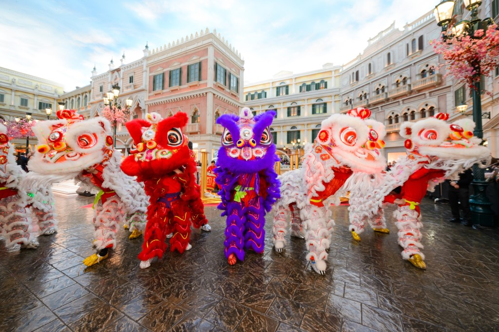 Lion Dance Blessing Ceremony at Soppes at Venetian