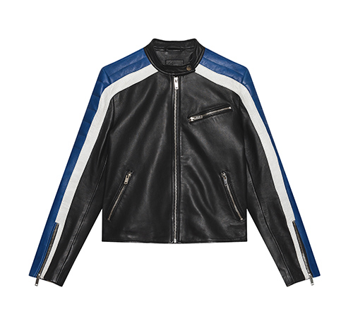 Sporty Leather Biker Jacket